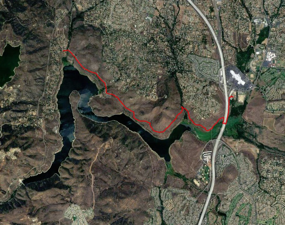 Coast to Crest Trail at Lake Hodges
