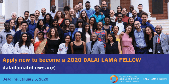 Dalai Lama Fellowship 2020 for emerging young Leaders