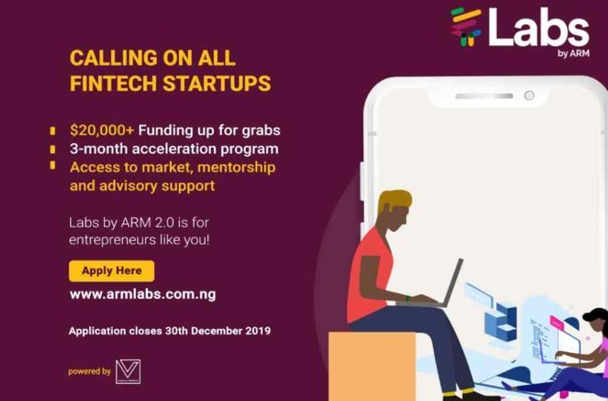 Labs by ARM – FinTech focused Accelerator Program 2019 for early & growth stage FinTech startups