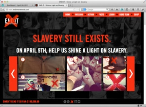 CLICK HERE TO ENLARGE THIS IMAGE. Social media excellence #1- #enditmovement offers social proof