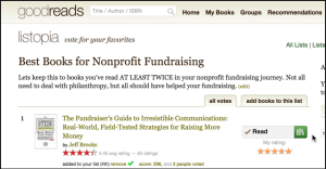 Goodreads list of the best fundraising books