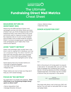 The Ultimate Fundraising Direct Mail Metrics Cheat Sheet