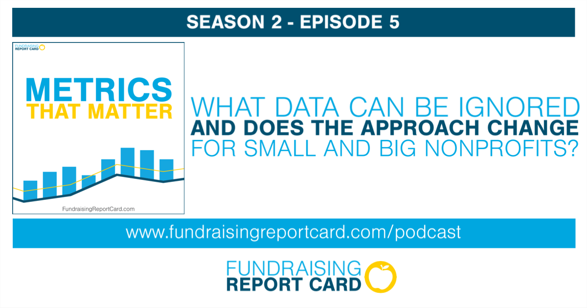 What data can be ignored and does the approach change for small and big nonprofits