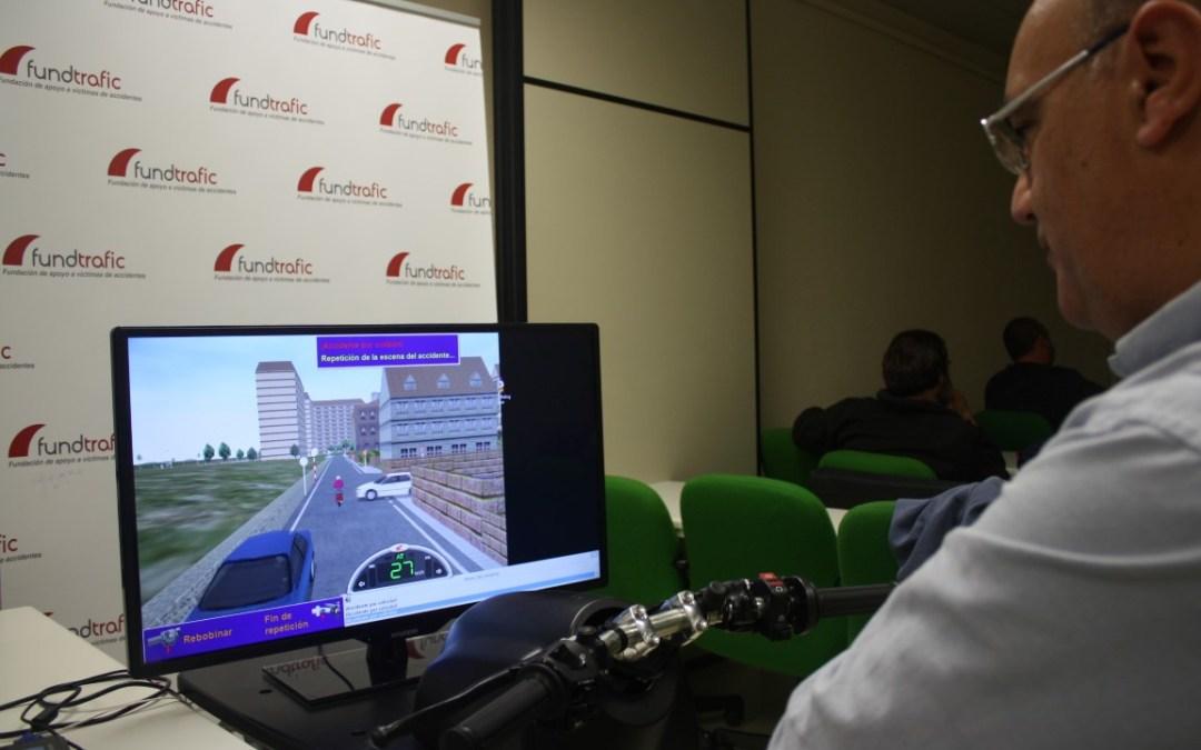 Fundtrafic imparte un curso de conducción segura de motos en la Fábrica Nacional de Moneda y Timbre