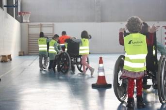 Probando las sillas de ruedas
