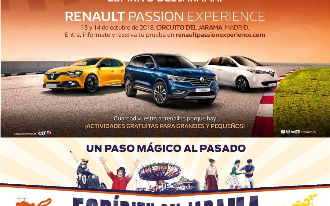 ¡Vive en famililia la gran fiesta Renault Passion Experience!