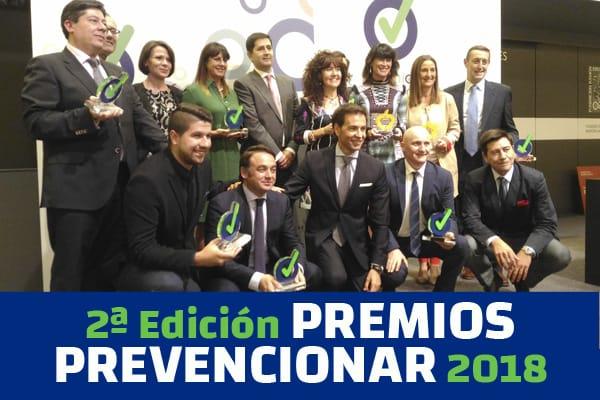 La II edición de los Premios Prevencionar 2018 reconoce la cultura preventiva en España