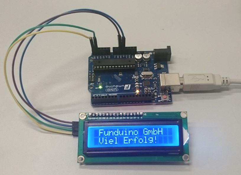 Nr i²c display funduino kits und anleitungen für arduino