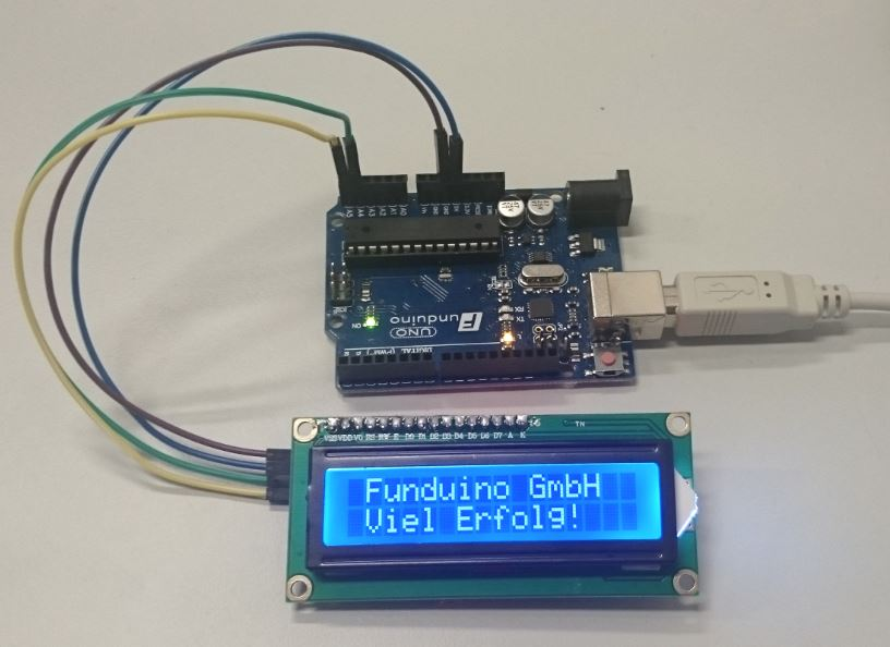 Awesome Nr 02 I2C Display Funduino Kits Und Anleitungen Fur Arduino Wiring Cloud Oideiuggs Outletorg