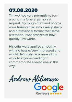 Artboard 26funeral order of service review
