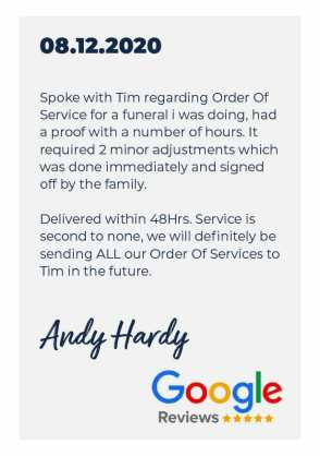 Artboard 33funeral order of service review