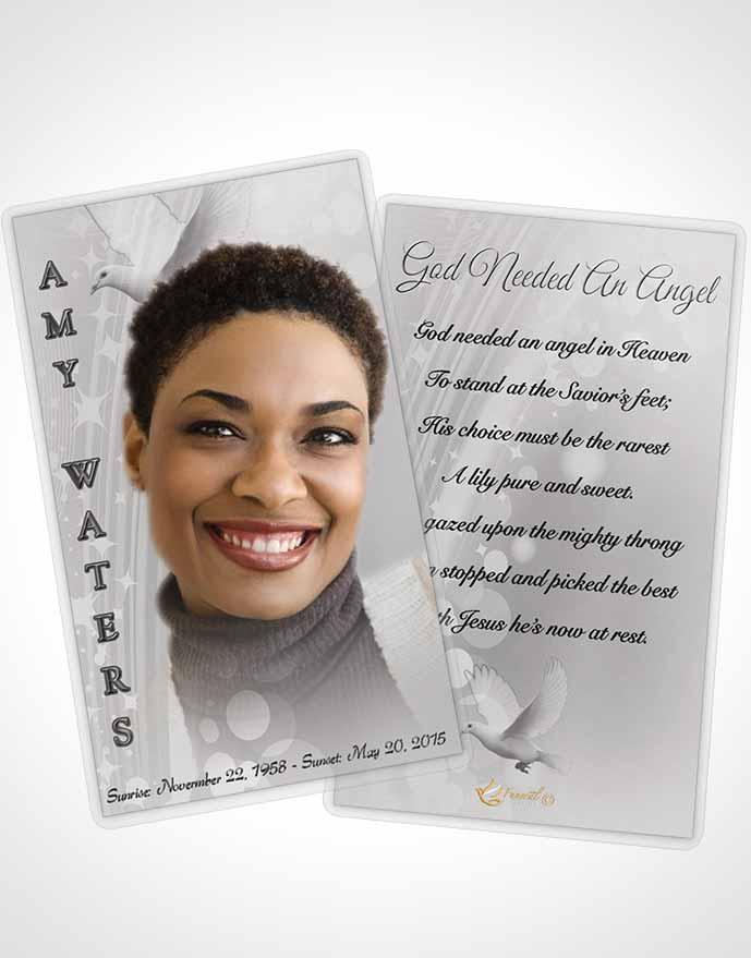 Prayer Card Template Free Spirit Black And White