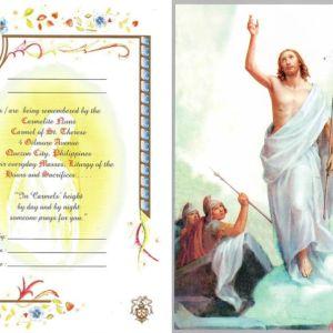 Resurrection of Jesus Mass Card Online