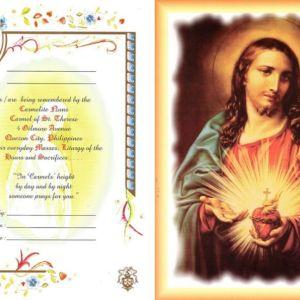 sacred heart of jesus mass card online
