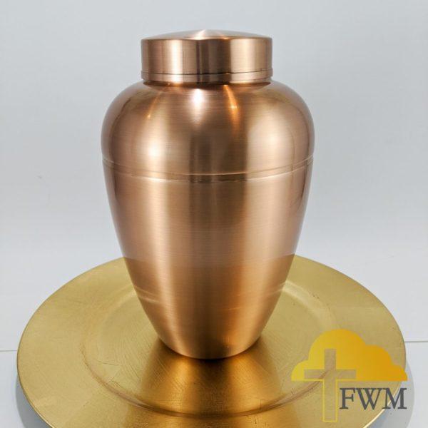 kindness rose gold aluminum metal cremation urn
