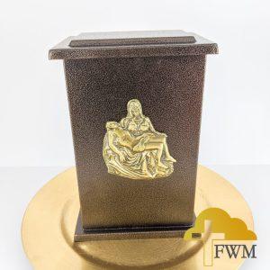 peace_pieta_metal_cremation_urn_jar