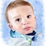 Digital portrait of baby boy