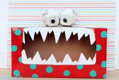 Fun Family Crafts - Tissue Box Tattle Monster