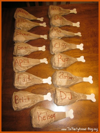 Paper Bag Turkey Leg Place Settings Fun Family Crafts