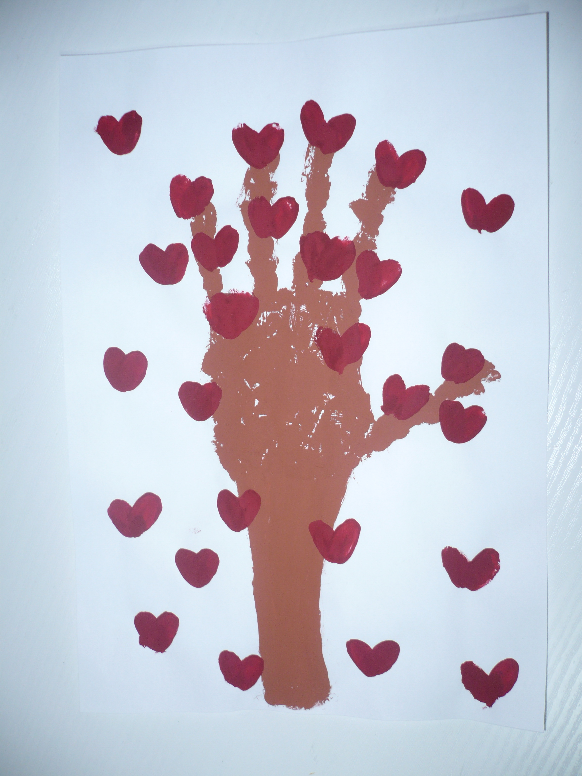 Handprint Tree Of Hearts Fun Family Crafts