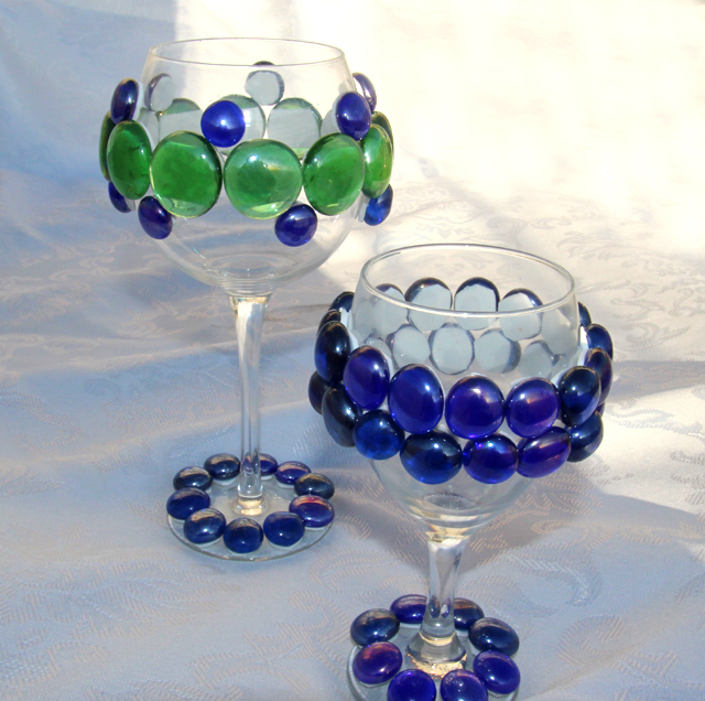 Bejeweled Wine Glasses Fun Family Crafts