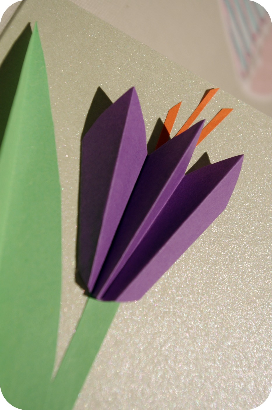 Mother S Day Paper Crocus Card Fun Family Crafts