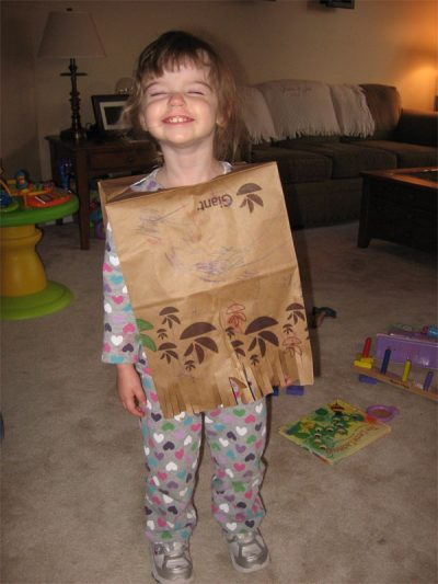 Paper Bag Poncho Fun Family Crafts