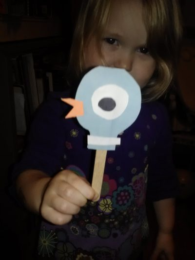 Pigeon Puppet Fun Family Crafts