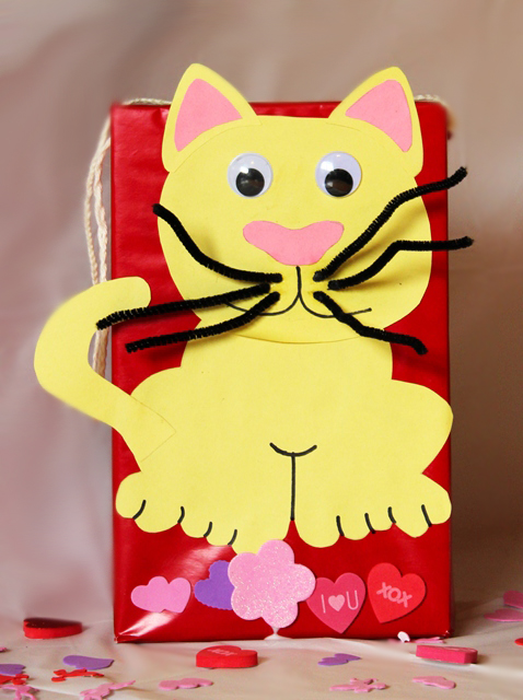 Valentines Cat Box Fun Family Crafts