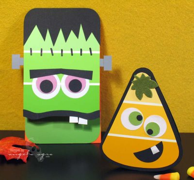 Halloween Paint Chip Cards Fun Family Crafts