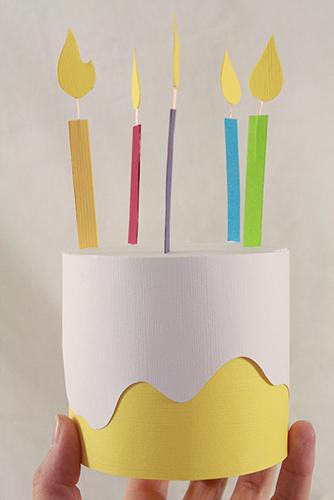 Paper Birthday Cake Box Fun Family Crafts