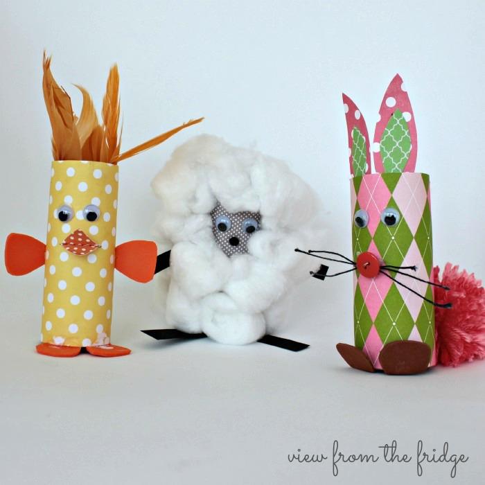 Cardboard Tube Baby Farm Animals Fun Family Crafts