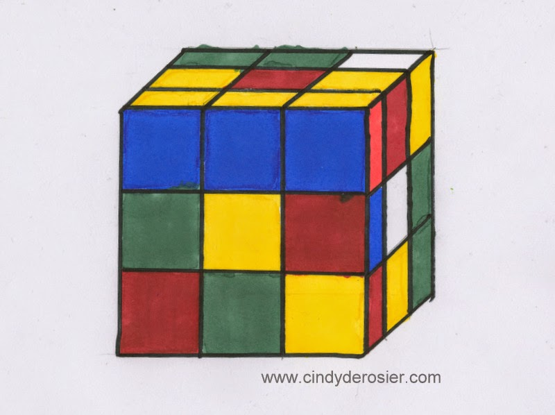 How To Draw A Rubiks Cube Fun Family Crafts