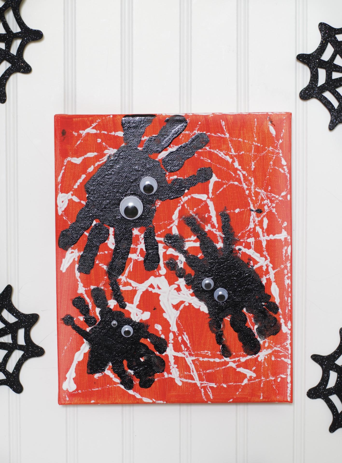 Spooky Spider Handprint Art Fun Family Crafts