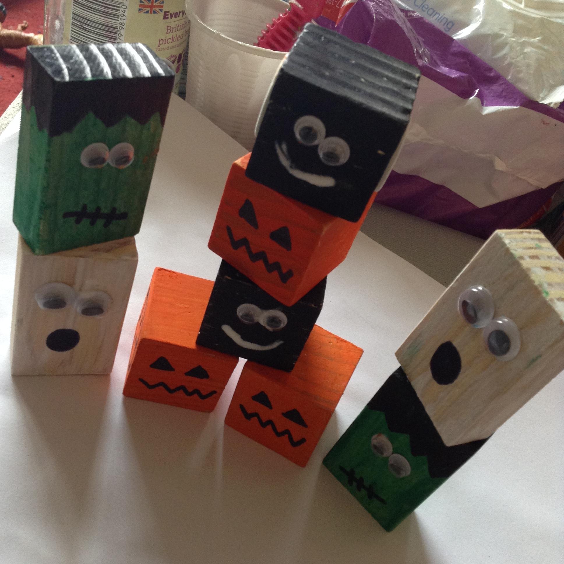 Halloween Wooden Blocks Fun Family Crafts