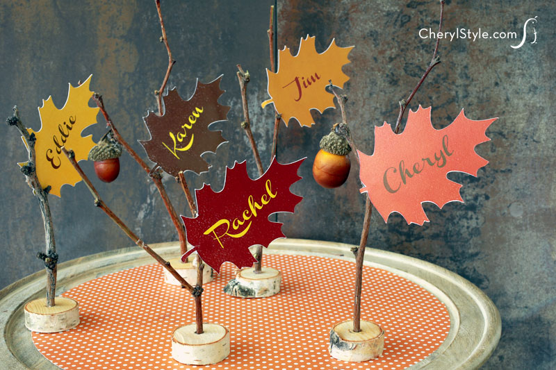 Printable Leaf Place Cards Fun Family Crafts