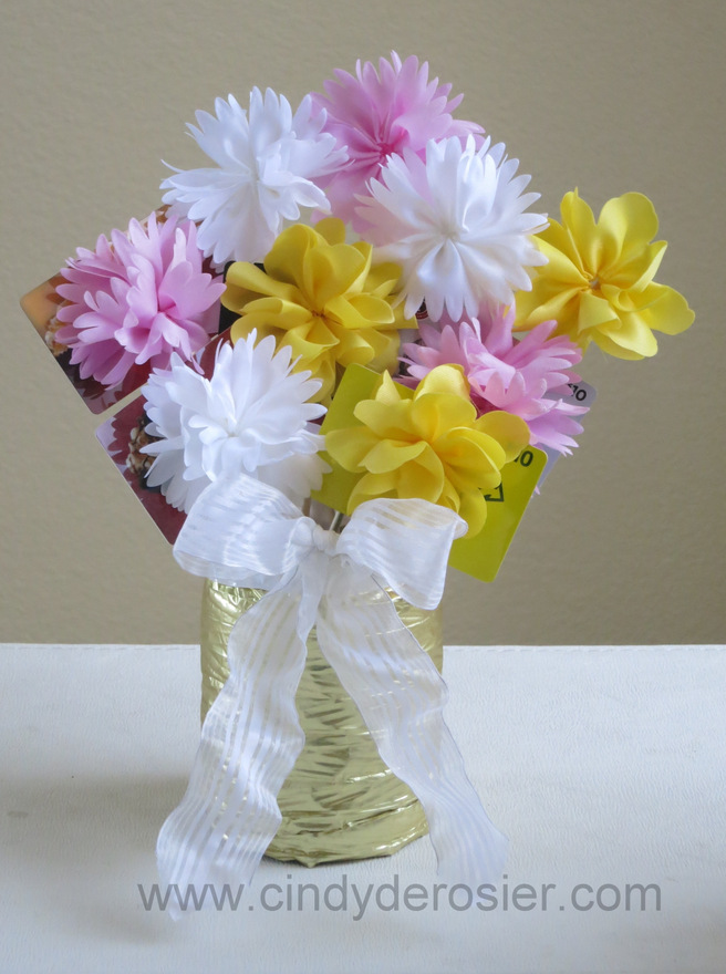 Gift Card Bouquet Fun Family Crafts