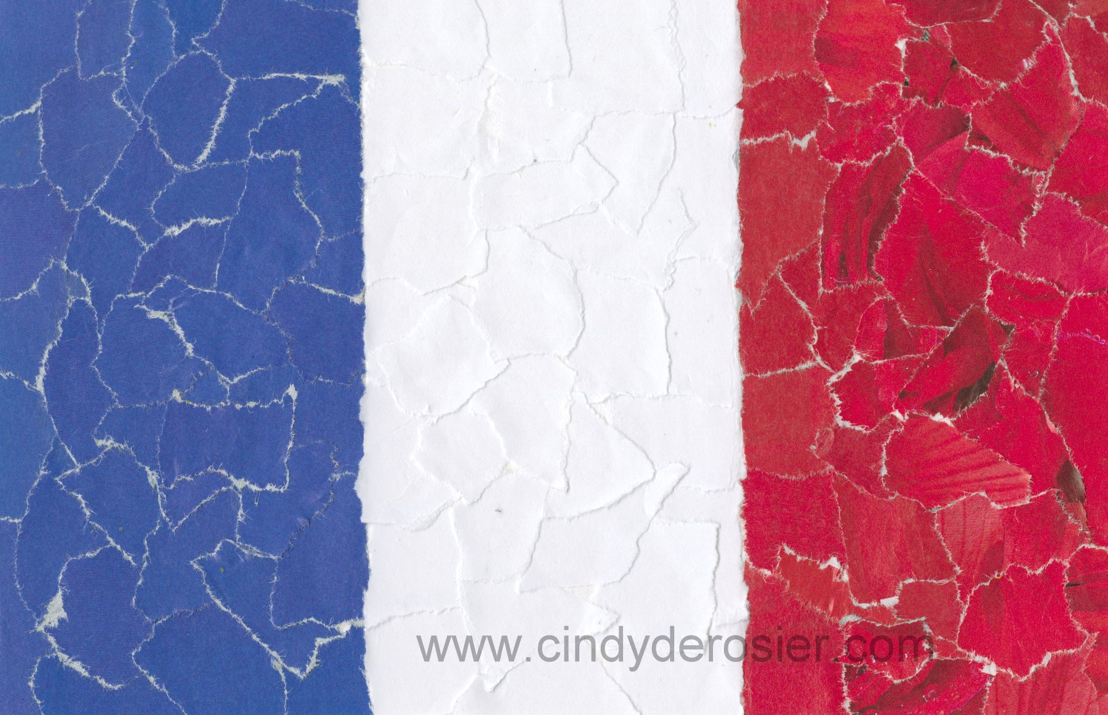 French Flag Mosaic Fun Family Crafts