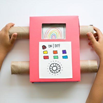 Cardboard TV Fun Family Crafts