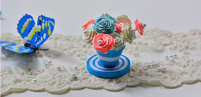 Quilled Paper Flower Pot And Flowers Fun Family Crafts
