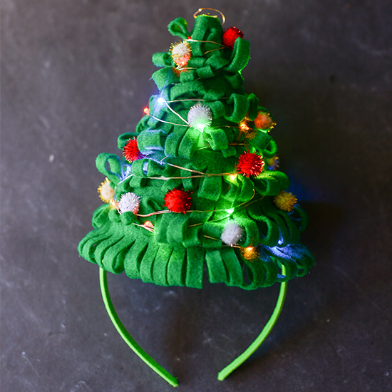 Light Up Christmas Tree Hat Fun Family Crafts