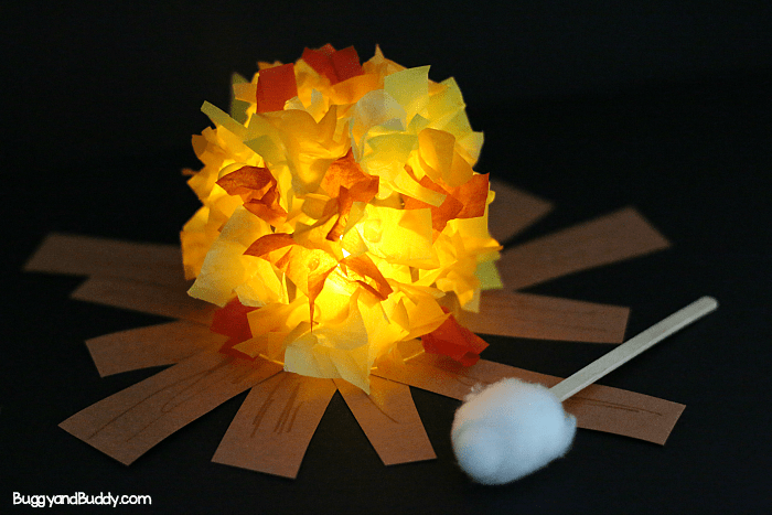 Glowing Campfire Craft Fun Family Crafts