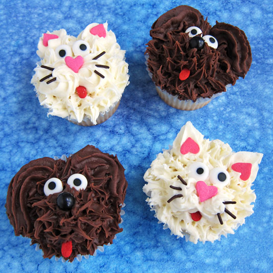 Dog And Cat Cupcakes Fun Family Crafts