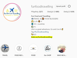 instagram fun food travelling profile