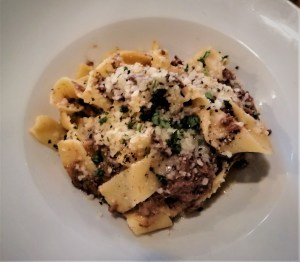 pasta dish with veal ragu