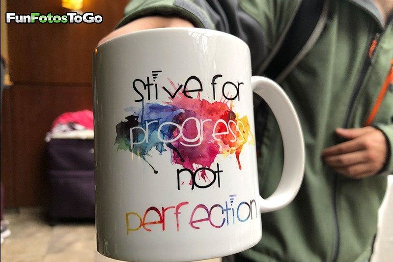 Motivational Mug - Strive for progress not perfection