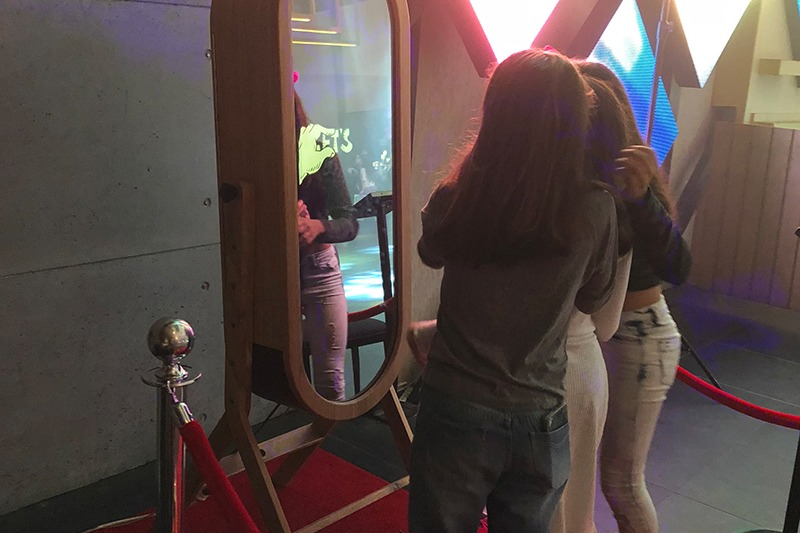 magic mirror at a Bat Mitzvah