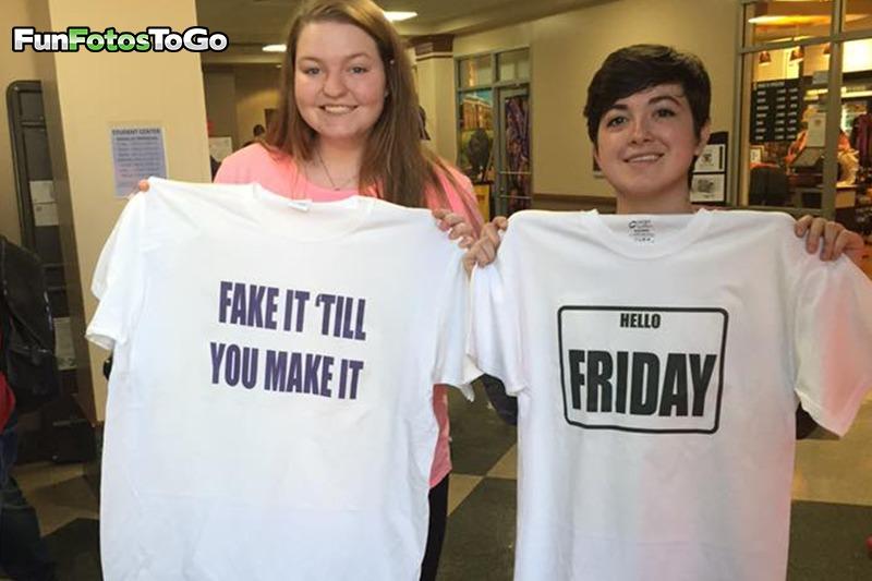 Slogan T-Shirts are fun!
