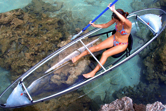 Crystal Clear Transparent Canoe – Kayak
