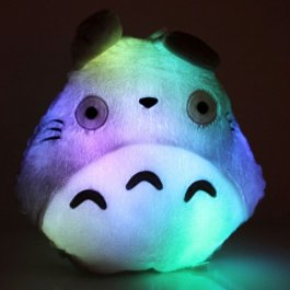 E-MART Totoro Shape Pillow with LED Colorful Light